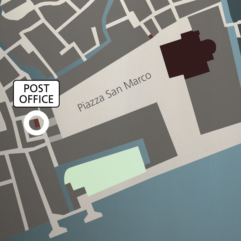 Map of piazza San Marco